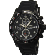 Invicta 7375 Men's Signature II Black Ion Plated Chronograph Black Rubber Strap Watch - Watches - $99.99