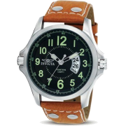 Invicta II Black Dial Leather Bracelet Mens Watch 0787 - Watches - $130.00