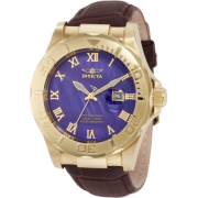 Invicta Men's 1711 Pro Diver Elegant Gold-Tone Leather Watch - Watches - $105.63
