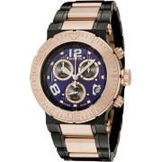 Invicta Men's 6765 Reserve Collection Chronograph 18k Rose Gold-Plated and Black Stainless Steel Watch - Watches - $229.00