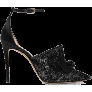JIMMY CHOO Temple 100 glittered velvet a - Classic shoes & Pumps -