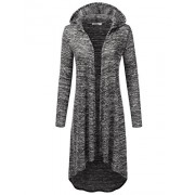 JJ Perfection Womens Long Sleeve High Low Open Front Hoodie Cardigan - Shirts - $23.99