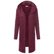 JJ Perfection Women's Long Sleeve Open Front Hooded Flowy Cardigan Sweater - Shirts - $23.99