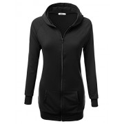 JJ Perfection Women's Long Sleeve Zip Up Slim Fit Raglan Hooded Jacket - Shirts - $23.99