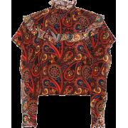 JW ANDERSON Paisley-printed silk blouse - Balerinas -