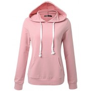 JayJay Women Basic Lightweight Pullover Hoodie Sweatshirt with Kangaroo Pocket - Camisa - curtas - $24.99  ~ 21.46€