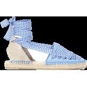 Jean gingham espadrilles - Sandals -