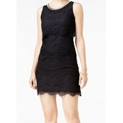 Jessica Simpson Womens Embellished Lace Cocktail Dress Black 4 - Dresses - $118.00