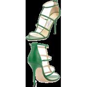 Jimmy Choo Green Sandals - Sandals -