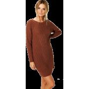 Jumper Dress, Fashion,Knit - Dresses -