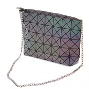 KAISIBO Fashion Geometric bags Chain cross body Shoulder Bag PU leather clutch purses for women (K3115LR) - Hand bag - $39.99