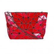 KAISIBO Fashion Geometric bags Chain cross body Shoulder Bag PU leather clutch purses for women (Red) - Hand bag - $36.99