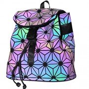 KAISIBO Geometric Backpack Holographic Reflective Backpacks Fashion (Luminous D) - Hand bag - $59.99