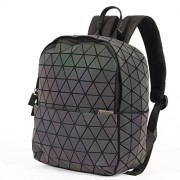 KAISIBO Geometric Backpack Holographic Reflective Backpacks (Luminous E) - Hand bag - $59.99