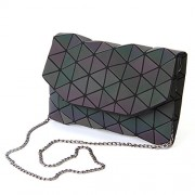KAISIBO Geometric Metal Chain Shoulder Purses and Handbags Crossbody Messenger Bag(K3160) - Hand bag - $33.99