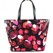 KATE SPADE NEW YORK JUNO GRANT STREET BLACK PINK FLORAL SATCHELlarge $298 - Hand bag - $179.96