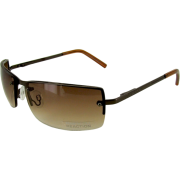 KENNETH COLE REACTION Men's Rimless Metal Sunglasses [KC1038], Shiny Brown (O067) - Sunglasses - $53.94