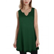 KILIG Women V-Neck Sleeveless Patchwork Casual Dress Top - Camisa - curtas - $24.99  ~ 21.46€