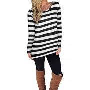 KILIG Women's Casual Long Sleeve Cotton Halloween Stripes T-Shirt Tops - Camisa - curtas - $23.99  ~ 20.60€