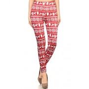 KILIG Women's Christmas Elk Print Stretch Full Length Leggings Pants - Calças - $28.00  ~ 24.05€