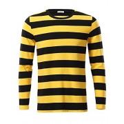 KIRA Men's Casual Long Sleeve Cotton Striped Shirt - Shirts - $20.99