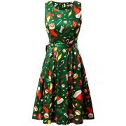 KIRA Womens Christmas Dress Sleeveless A-line Party Cocktail Dress… - Dresses - $22.99
