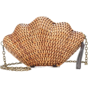 Kayu - Jane straw shell clutch - Clutch bags -