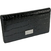 Kenneth Cole Faux Leather Checkbook Organizer Wallet Black - Denarnice - $12.70  ~ 10.91€