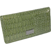 Kenneth Cole Faux Leather Checkbook Organizer Wallet Green - Denarnice - $12.70  ~ 10.91€