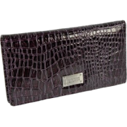 Kenneth Cole Faux Leather Checkbook Organizer Wallet Purple - Denarnice - $12.70  ~ 10.91€