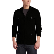 Kenneth Cole Men's Zipfront Cardigan Black - Puloverji - $59.99  ~ 51.52€