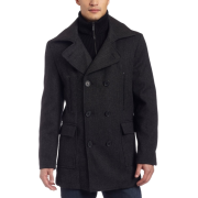 Kenneth Cole New York Mens Long Herringbone Coat Black Combo - アウター - $249.50  ~ ¥28,081