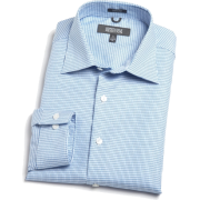 Kenneth Cole Reaction Mens Fancy Dress Shirt Blue - Shirts - $23.80