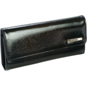 Kenneth Cole Reaction Patent Tri Me a River Wallet Black - Wallets - $29.99
