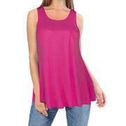 Kilig Summer Sleeveless Round Neck Tunic top Loose Casual Shirt  - Camisa - curtas - $30.99  ~ 26.62€