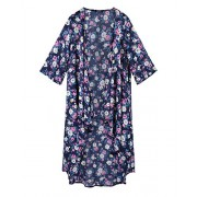 Kilig Women's Floral Chiffon Casual Beach Kimono Cardigan Blouse Cover Up  - Swimsuit - $30.99
