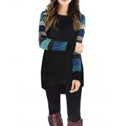 Kilig Women's Long Sleeve Pockets High Low Knitted Casual Tunic Tops  - Tunic - $40.99
