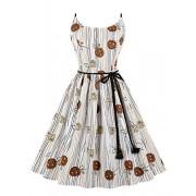 Killreal Women's Vintage Round Neck Sleeveless Casual Swing Holiday Dress - Haljine - $13.99  ~ 88,87kn