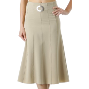 Knee Length Flared Skirt with Seaming and Belt Detail ( 4 Colors ) - Skirts - $25.00