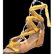 Kooba Women's Lainey Wedge Sandal Yellow - Sandals - $146.15