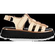 LABUCQ neutral & black sandal - Sandals -