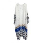 LA PLAGE Women's Chiffon Boho Printed Loose Swimsuit Long Cover Ups - Outerwear - $18.99
