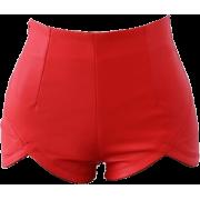 LEATHER SHORTS - Shorts -