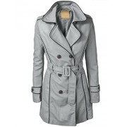 LL Womens Jet Setter Faux Leather Trench Coat - Outerwear - $49.90