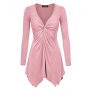 LL Womens Long Sleeve Knot Baby Doll Tunic Top - Camisas - $25.64  ~ 22.02€