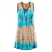 LL Womens Sleeveless Solid/Tie-Dye Tunic Tank Top - Made in USA - Camisas - $22.79  ~ 19.57€