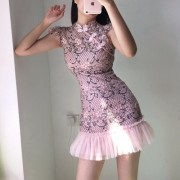 Lace cheongsam slim sweet puffy fishtail princess style dress - Haljine - $27.99  ~ 177,81kn