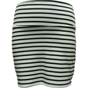 Ladies Black White Horizontal Striped Skirt - Skirts - $16.90