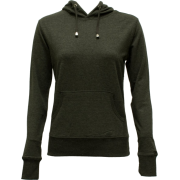 Ladies Charcoal Classic Center Pocket Hoody - Long sleeves t-shirts - $19.50