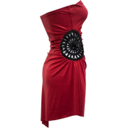 Ladies Red Strapless Beaded Side Opening Tube Dress - 连衣裙 - $33.00  ~ ¥221.11
